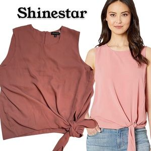 Shinestar formal blouse front tie
